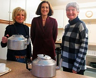 Theresa Villiers joins Barnet Society committee members before her annual question and answer session. From left to right, Gail Laser, vice-chair, Theresa Villiers and Frances Wilson, minutes secretary