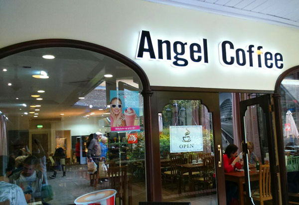 Angel Coffee in the Spires at the former Oasis site