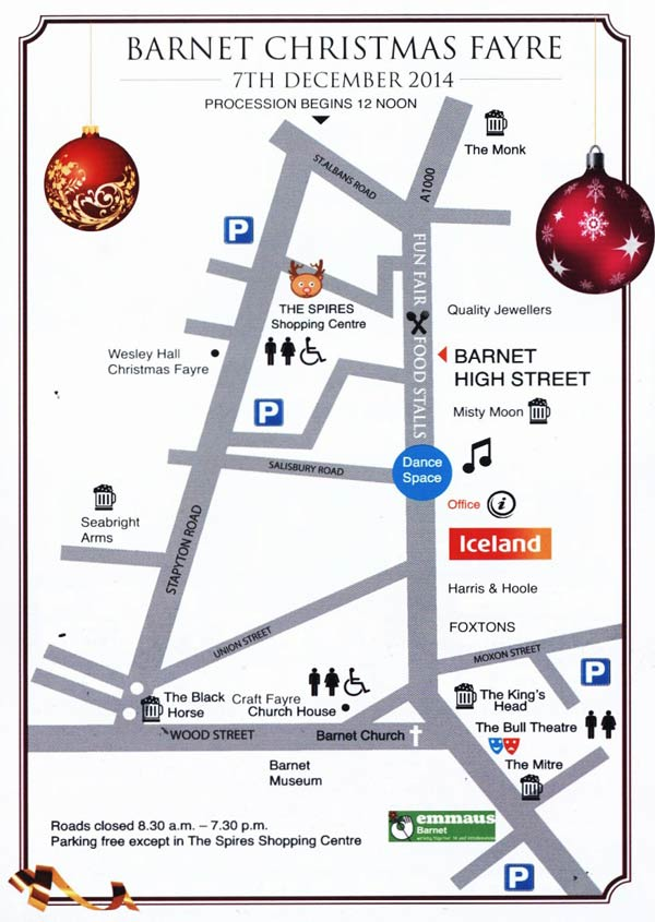 Christmas Fair map