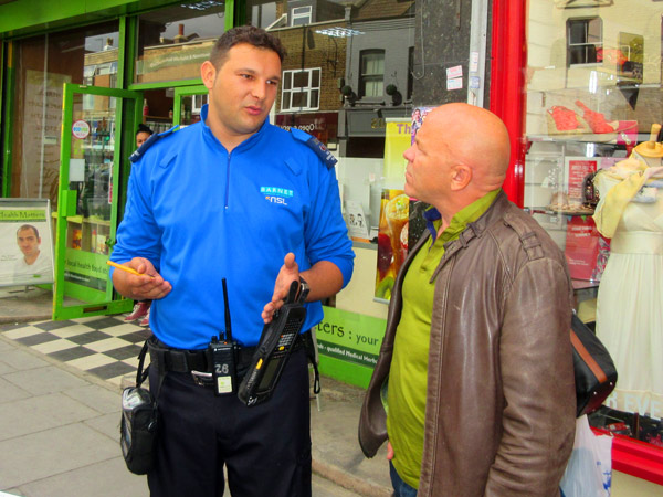 A sympathetic ear for once as a traffic enforcement describes to TV presenter Dominic Littlewood the abuse he has to endure after issuing on-the-spot fines