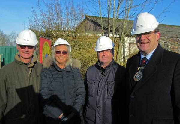 From left to right: Philip and Janet Hulme of the Hadley Trust; Mike MacInerry, chair of the trustees of Barnet Countryside Centre; and the Mayor of Barnet, Councillor Hugh Rayner