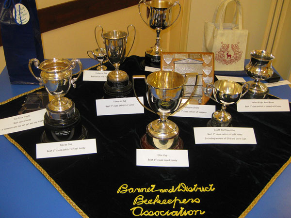 Barnet Beekeepers' collection of silver cups from the 1920s