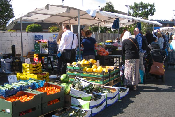 David's and Tyler's popular fruit and vegetable stall in the market