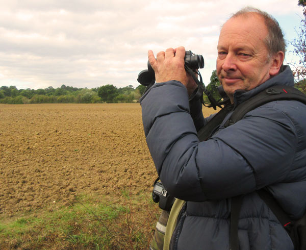 Birdwatcher David Martens next to the Whitings Hill open space