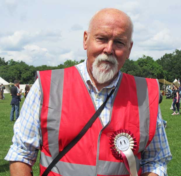 Bob Burstow, chair of the Barnet Medieval Festival Committee