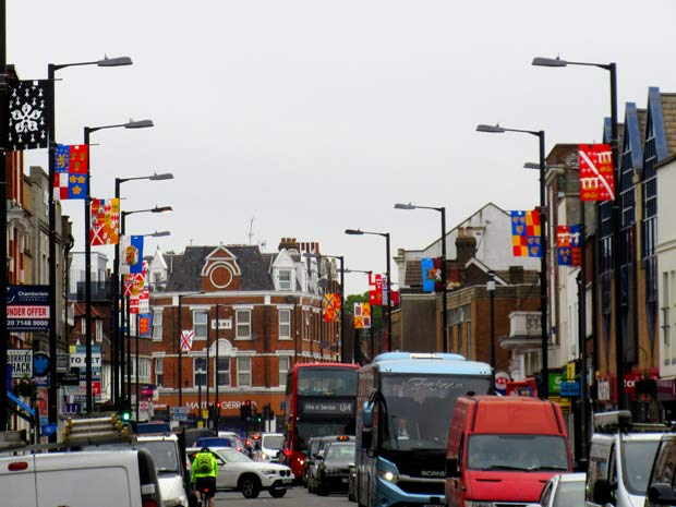 Heraldic banners from the time of the Battle of Barnet are part of the ongoing project to promote Barnet's historic role in the Wars of the Roses