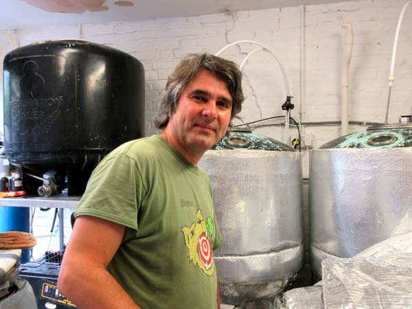 Nick Zivkovic, brewer at the Black Horse, is preparing his next batch of Battle of Barnet bitter to help promote the Barnet Medieval Festival