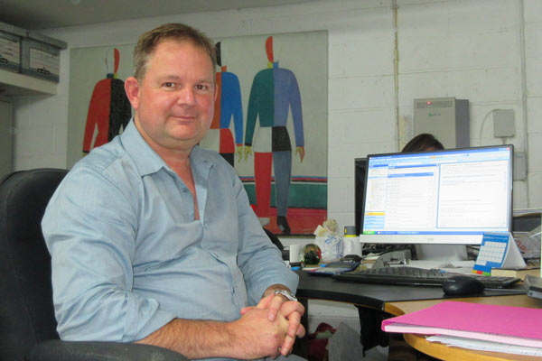 Chris Belsey, director of Sterling Printing, one of up to 30 businesses and workshops that is trying to find new premises