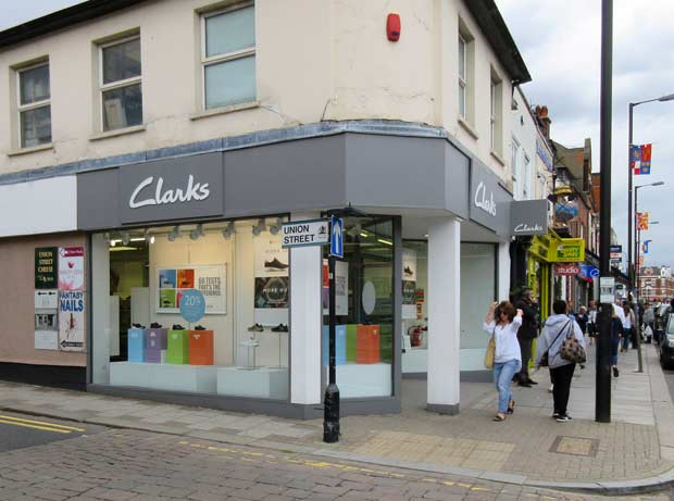 Clarks shoe shop - a favourite for Barnet families