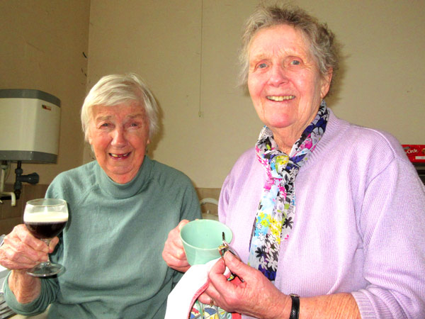 Two of the longest serving helpers, Maura Howells (left) and Molly Stebbings.