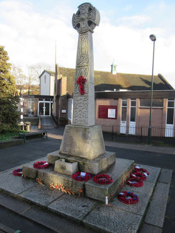 "East Barnet war memorial – ""an imposing Celtic cross"""