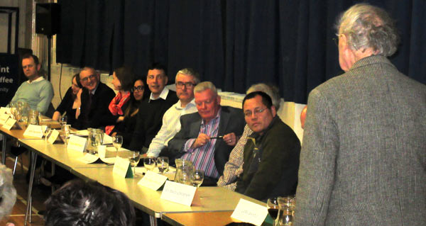 Aubrey Rose, president of the Barnet Society, thanked the 13 candidates who answered questions from local residents