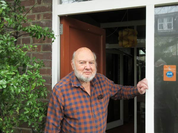 Fred Holbart at his front door