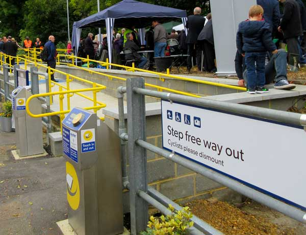 Hadley Wood Station's step free access was opened in May after a long campaign by the local rail user group