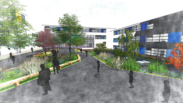 Artists impression of the school