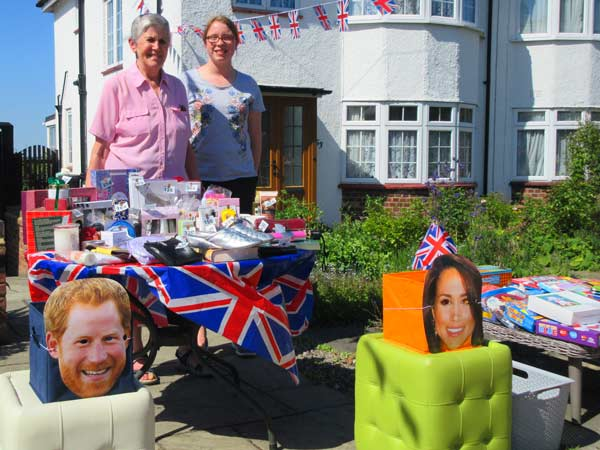 Harry and Meghan's tombola at the Old Fold View royal wedding street party was organised by Catie Davies (14) and her grandmother Yvonne Davies