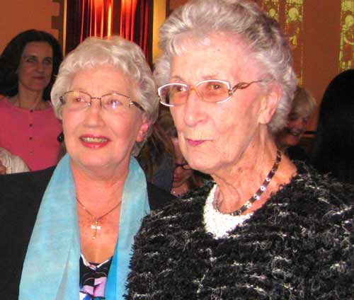 Two former Christ Church School pupils – Pat Barnham (left) and Nora Thorburn