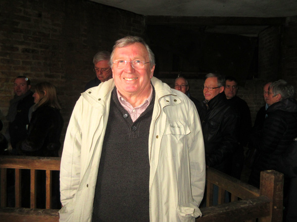 Dennis Bird, a volunteer from Barnet Museum, welcomed visitors