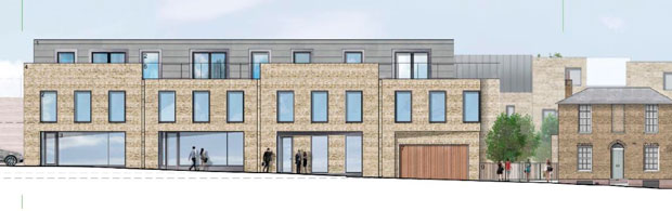 Proposed housing  commercial space Moxon Street Checkalows site Drawing by Capita Property  Infrastructure