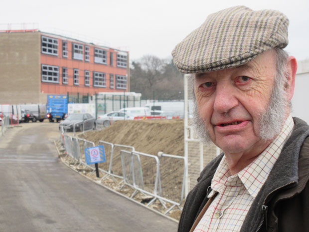 Footballing memories for Robin Fell, life-time Barnet supporter, on visiting the nearly-completed Ark Academy school on the site of Underhill stadium