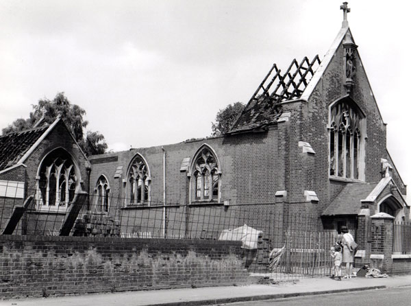 St Gregs burnt down in 1973