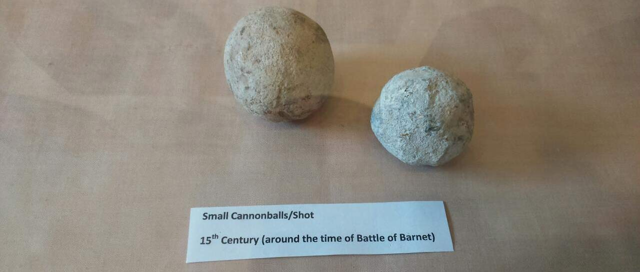 Small cannon balls from the Battle of Barnet