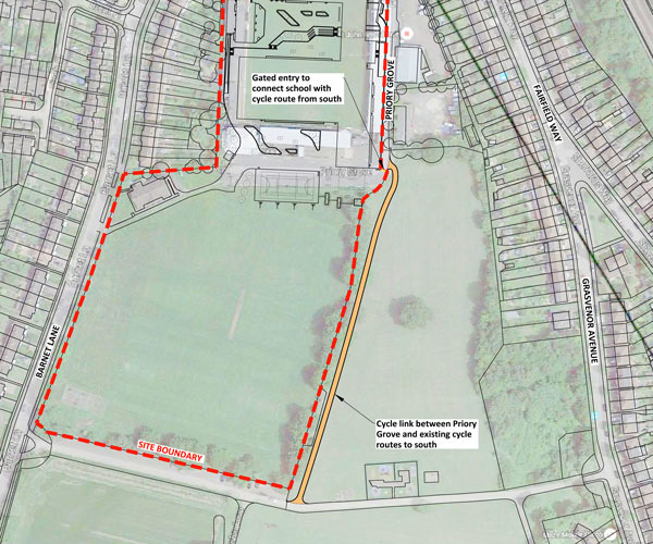 The proposed site plan for the school