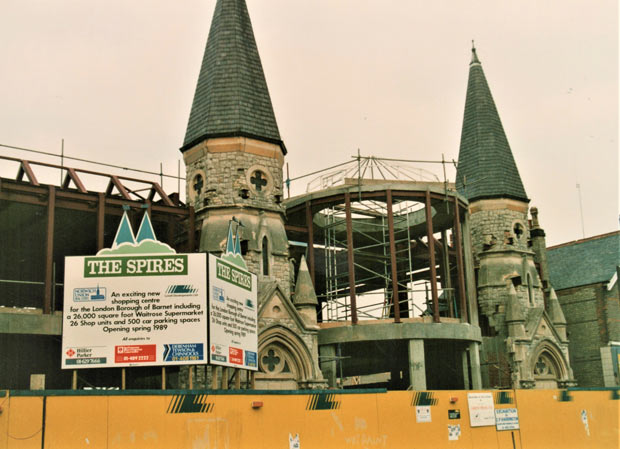 The Spires under construction 30 years ago