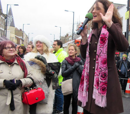 Chipping Barnet MP Mrs Theresa Villiers at the Barnet Christmas Fayre