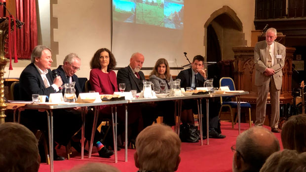 (L-R) Ross Houston, Richard Knox-Johnston, Theresa Villiers, Bob Burstow, Violet Walker, Chris Fairbairn, Robin Bishop