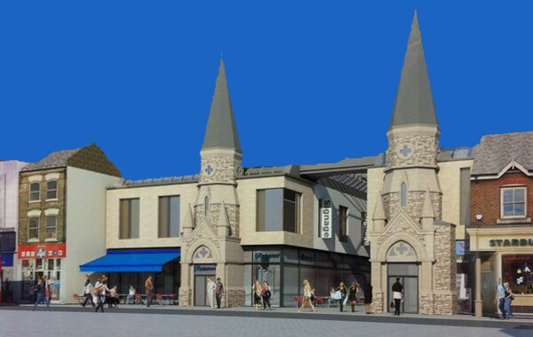 The Spires proposal with twin spires