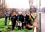 David Lee with volunteers hard at work in 1999 planting London planes and Norway maples on Barnet Hill