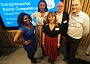 Mother of two Joanne Merchant with the judging panel for Barnet entrepreneurs' award.  From left to right, Sharniya Ferdinand, Vanessa Fernandes, Joanne Merchant, Steve Leverton, Terry Magennis