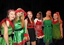 Elves take a break from their rehearsal for Twas The Night Before Christmas (from left to right): Clementine Griffiths, Lois-Grace Atkins, Holly Strawson, Miriam Nyarko, Tallulah Isted, and Erin Gall.