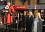 Councillor David Longstaff, Mayor of Barnet, opening Barnet Christmas Fayre. From left to right, Councillor Longstaff, Chipping Barnet MP, Theresa Villiers, the Mayoress of Barnet Gillian Griffiths, Councillor Lisa Rutter