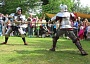 Re-enactment of medieval battlefield scenes by the Milady De Mowbray re-enactment group