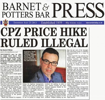 Barnet Council's defeat in the High Court made headlines