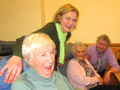 From L to R: Maura Howells, Brigid Horgan, the day centre organiser, Daphne Korner and Molly Stebbings