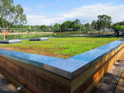 Green roof for countryside headquarters