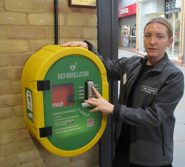 Fern Golder, centre administrator at the Spires shopping centre, is among staff trained in resuscitation techniques.