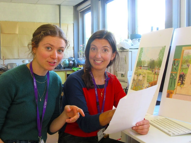 Educational manager Lucy Hollis (left) and farm and outdoor learning manager Sarah Alun-Jones