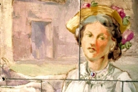 Dairy maid painted on wall tiles discovered recently decades after they were last seen