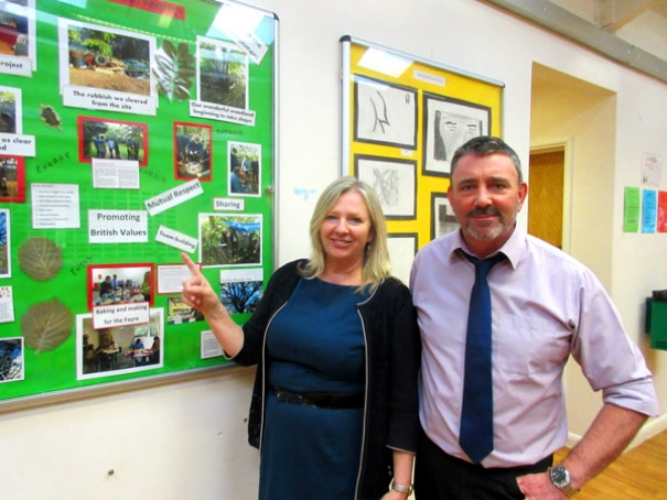 Deputy head Kim Price and assistant head teacher Kevin Mathews at the Pavilion Study Centre