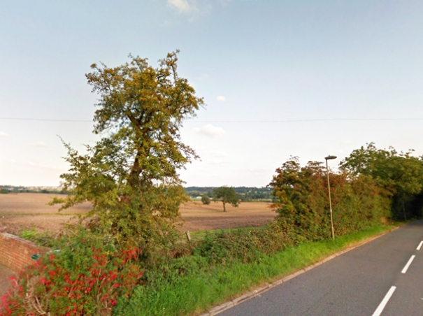 The proposed natural burial ground north east of Barnet Gate Lane and north west of Mays Lane