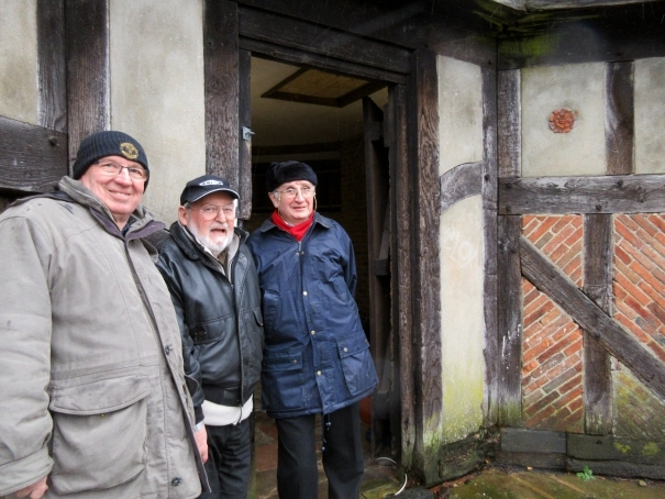 Mike Jordan (centre) chair of Barnet Museum's trustees, was on hand with volunteers Dennis Bird (left) and Bob Langley to answer visitors' questions