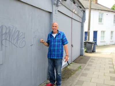 Roger Newell is hoping to demolish a semi-derelict lock-up that has blighted Union Street for many years