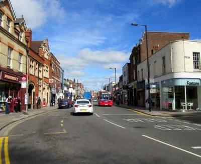 High Street seen from the Post Office