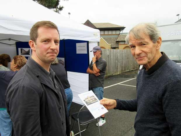 Chris Nightingale, of Friends of Barnet Market (right) told development director Simon Shaw he supported plans for the Premier Inn hotel on condition there was a guaranteed new site for Barnet market