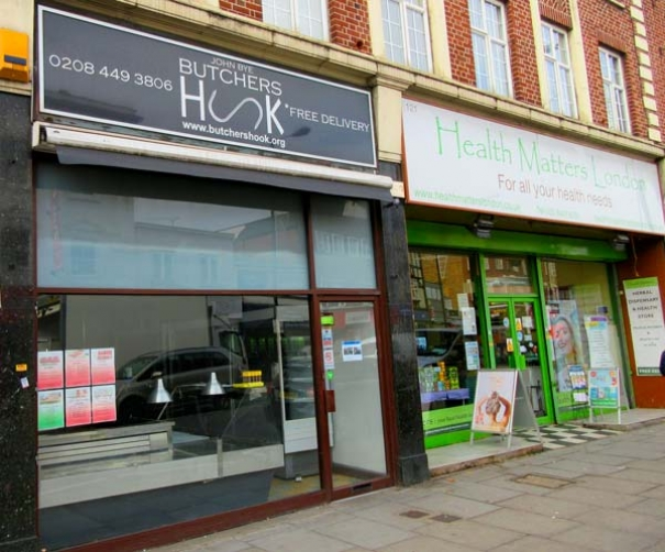 Butcher's Hook, was the last bucher's shop on the High Street