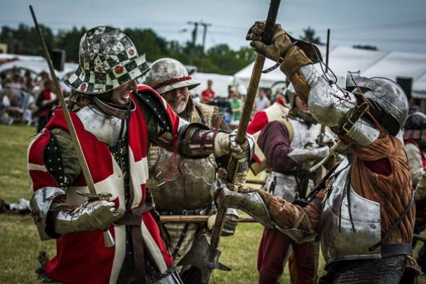 The Medieval Siege Society at Sandwich Medieval Festival last year. They will be providing demonstrations at our Medieval Festival in Barnet on Sunday, 11th June